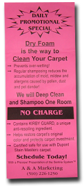 Kirby Vacuum Cleaner Demo Invitation (December 26, 2008)