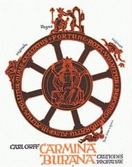 Cover of the Carmina Burana Score (Showing the Wheel of Fortuna)