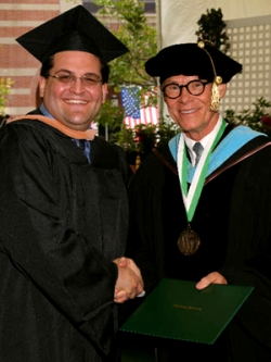 Matthew A. Gilbert, MBA -- Graduation Ceremony with then Woodbury University President Dr. Kenneth Nielsen