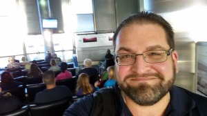 Waiting to depart LAX on Sunday, September 7, 2014.