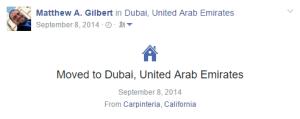 Moved to Dubai @ Facebook 20140908