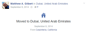 Moved to Dubai @ Facebook 20140908